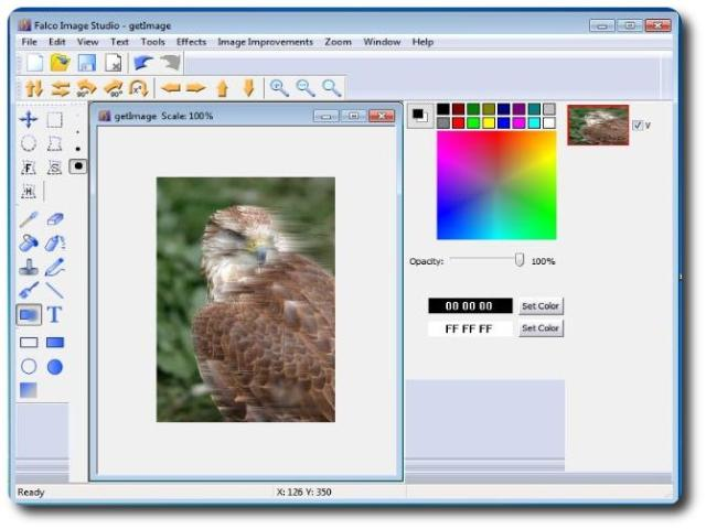 Falco Image Editor is a Graphics Tool to create, edit and export images. Create professional looking images with ease.