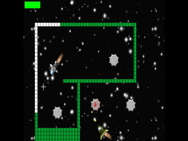 Star Defender is a cosmic game, in which you pilot a spaceship bristling with missiles and a machine gun. Your task is to destroy all enemies in your path, including stationary objects.