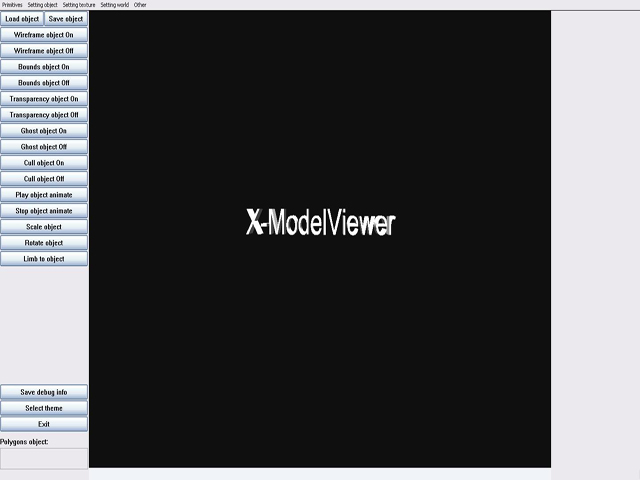 X Model Viewer screenshot