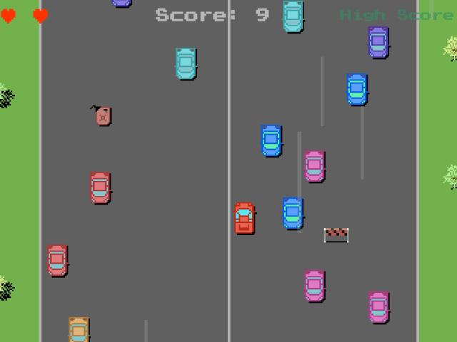 Pixel Car Road