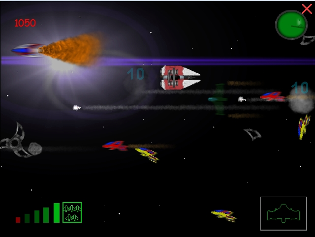 Space Attack - A compact side-scroll shooter.