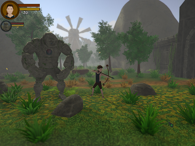 Description: The boy and the Golem were friends for a long time, and have traveled together.In search of the boy